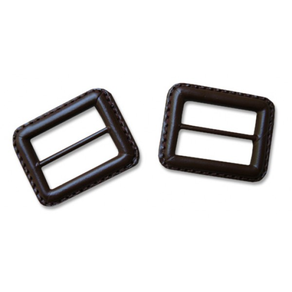 Leather buckle - Brown - Small