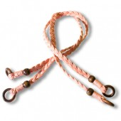 Braided cotton handles - Long - baby pink