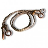 Braided cotton handles - Long - Brown