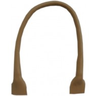 Leather handbag handles - Beige