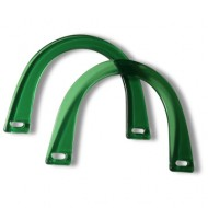 Acrylic bag handles - Horse shoe - Green