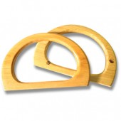 Wooden bag handles - D shaped