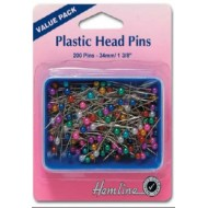 Plastic head pins pack of 200