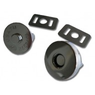 "Magnetic snap closures - ¾"" (18mm) - Silver"