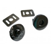 "Magnetic snap closures - ¾"" (18mm) - Black / gun metal"