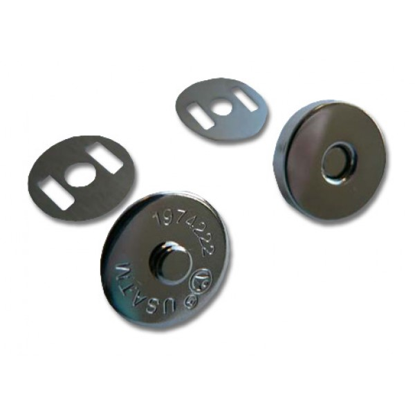 "Magnetic snap closures - ½"" (14mm) - Silver"